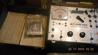 B&K 675 Tube Tester Cardmatic with manuals and hole punch, works!