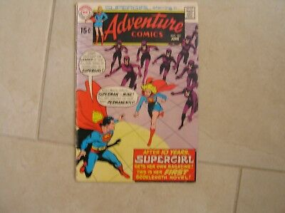 Adventure Comics #381 Neal Adams Cover! Supergirl Starts!!! U Grade!
