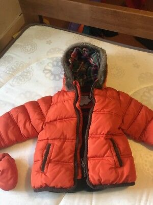 M&S Orange Winter Coat - Boys 18-24 Months