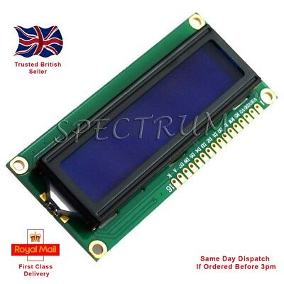 1602 16x2 LCD Display Module BLUE (white character) Serial Arduino Raspberry PI