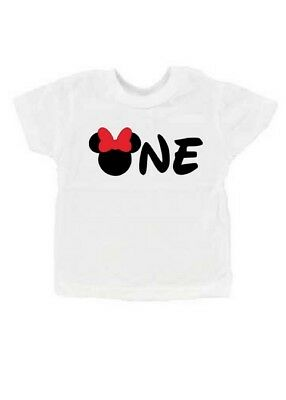 Minnie Mouse 1st Birthday Party Girls T-Shirt 6-12 12-18 mo 18-24 mo ONE shirt