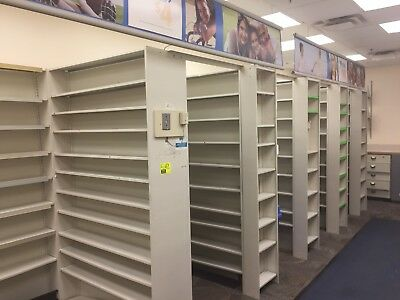 Complete Pharmacy Fixture Shelving System