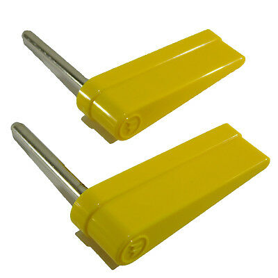 Yellow Flipper And Shaft For Williams / Bally (Pair) With Logo 20-10110-6
