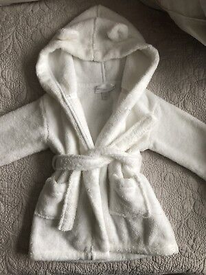 The Little White Company White Dressing Gown - Aged 6-12months