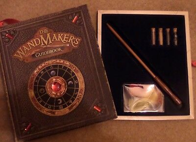 ' The WANDMAKERS GUIDEBOOK ' Harry Potter fan WIZARD WAND and BOOK   childrens 7