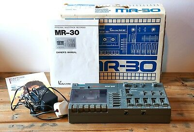 VESTA FIRE MR-30 MultiTrack Recorder & Instruction Manual - (Tascam /  Fostex)