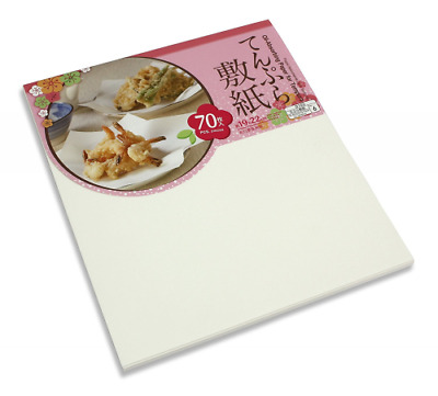 Oil Absorbing Paper for Tempura, 70 Sheet Pack, 19cm x 22cm