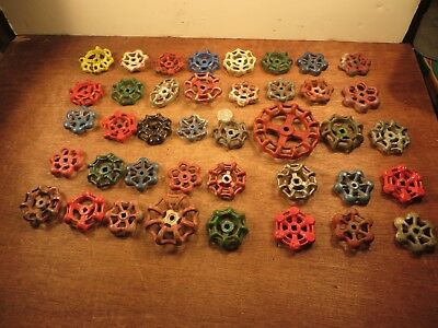 40 Vintage Valve Handles Water Faucet Knobs STEAMPUNK Industrial Arts Crafts # A