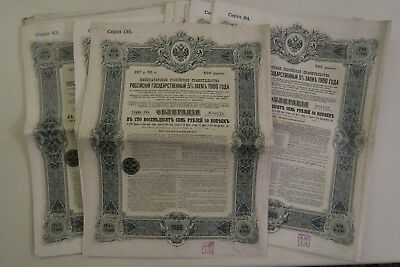 Emprunt Russe Obligation De 500 Francs 187.50 Roubles 5% 1906 X 42 Actions