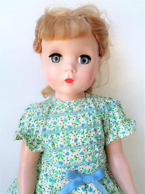 "17"" Vintage 1950s Madame Alexander HP Doll Maggie Face Green Dress Hard Plastic"