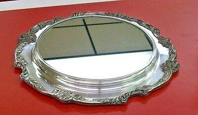 Vintage Reed & Barton 1666 Silver Plate Tray with Mirror - King Francis ???