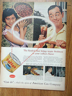 1956 Canco American Can Co Ad   Coffee