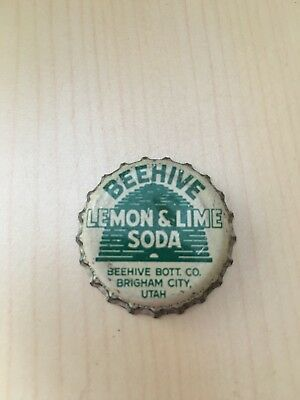 Beehive lemon lime Brigham UT soda Bottle Cap cork lined
