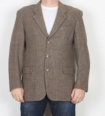 "Harris Tweed Tailored fitted Jacket Blazer 42"" Medium Large Beige (JBL)"