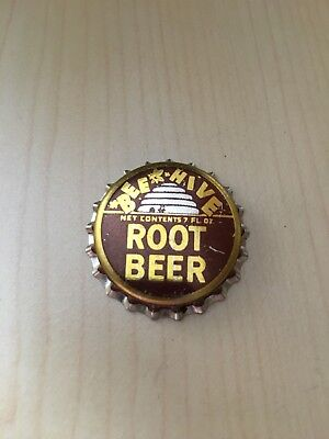 Beehive Root Beer Brigham UT, soda Bottle Cap cork lined. Ends Monday 19th.
