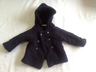 Size 6 - 12 Months Country Road Wool, Angora & Cashmere Hooded Button Up Jacket