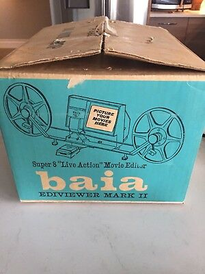 Vintage BAIA Live Action Ediviewer MOVIE Editor Mark 2 CAMERA Editor 8mm FILM