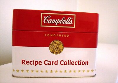 2012 Campbell's Soup Recipe Card Collection in Metal Recipe Box w/ Recipes