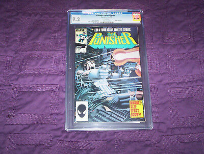 CGC 9.2 The Punisher #1 of 4 Limited Series (Jan 1986, Marvel) Rare OOP & N/R!!