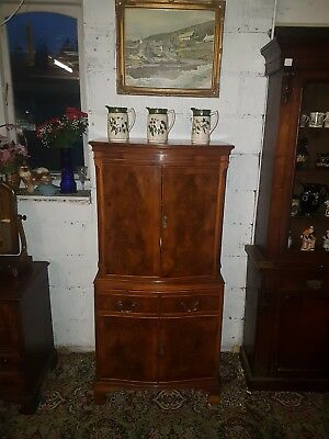 Tall Quality yew reproduction cocktail cabinet