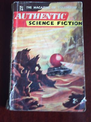 Authentic Science Fiction.#74. Nov 1956.the Magazine Of Tomorrow.
