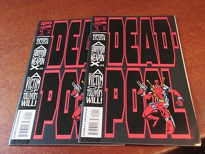 Lot of 2 Deadpool the Circle Chase #1 First issue X-men Marvel Comic Book NICE!