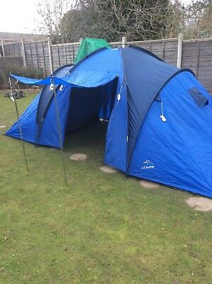 L.A Trekking tent (family/6-8persons) & VANGO tigris 800 xl large family tent - £109.00 | PicClick UK