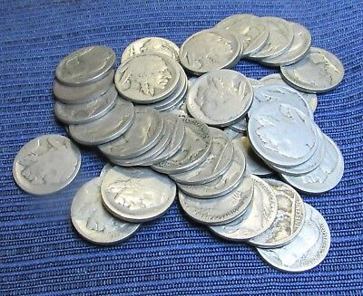 Roll Of 40 No Date Indian Head Nickels Lot 12