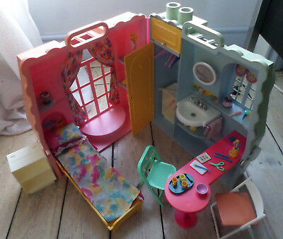 Sindy Dream Room Plastic Doll House Case Vintage 1990's