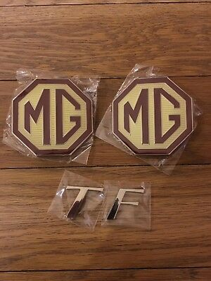 MG TF - Front Grille, Rear Boot and TF Badges - NEW