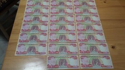25000 Iraq Dinar note new uncircalated.total 1000.000. one million dinar 40 note