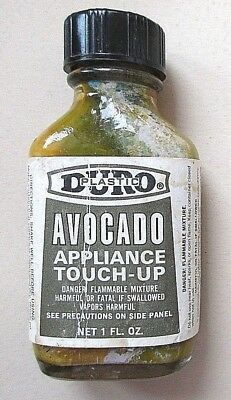 Vintage Duro Avocado Color Appliance Touch-Up Paint= One Ounce=Glass Bottle