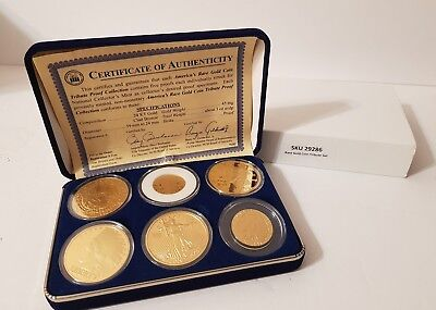 American's Rare Gold Coins Tribute Proof Collection Set Of 6 Coins