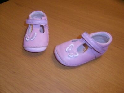 Baby Girls Clarks First Shoes size 2.5 H