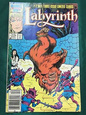 Labyrinth #2 (1986, Marvel) VF David Bowie Jim Henson Movie Adaptation