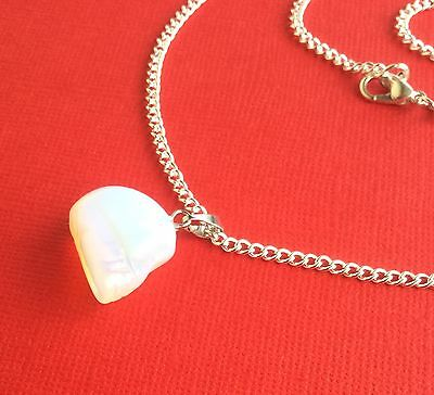 NEW! Opalite Carved Skull Gemstone Pendant Necklace - Aussie Seller!!!