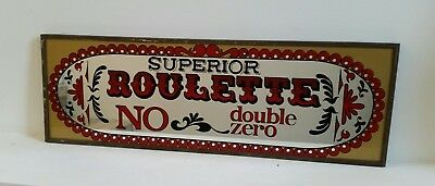 Vintage Bar /casino MIRROR  SUPERIOR ROULETTE NO Double Zero