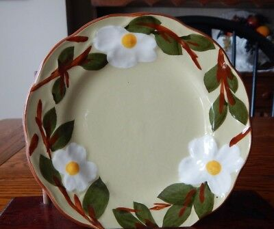 """Stangl Dogwood Hanging Wall Plate 6"""" Hanging Holes/wire Excellent"""