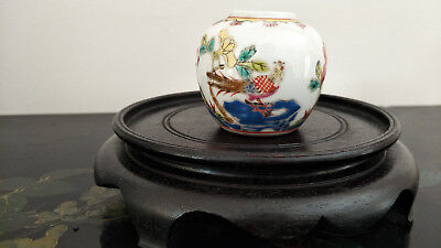 Chinese Antique Famille Rose Porcelain Water Pot