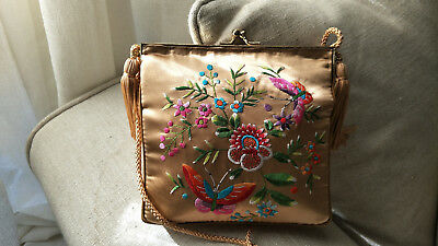 Chinese Antique Embroidery Vintage Hand Bag