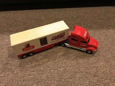 Coca-Cola Celebrating  Mickey Mouse Disney Tour Carrier Semi Freight Truck Toy