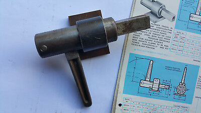 Industrial heavy duty stubby plunger clamp I.S.I. USA. Model #SM59FBH. 1, 11/16
