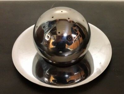 Chase Art Deco Chrome Cocktail Ball & Saucer Russel Wright