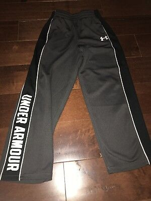 Boys Size 7 Under Armour Pants Gray And Black