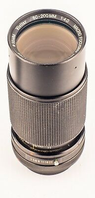 Vivitar 80-200mm f4 Manual Macro Focusing Zoom Lens With Canon FD Mount