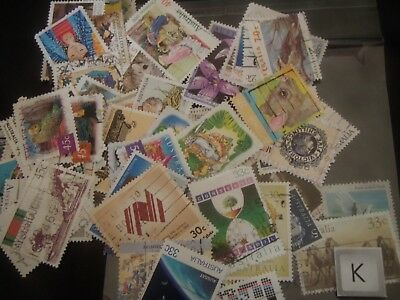 Bulk Early Decimal stamps Australia off paper (k)