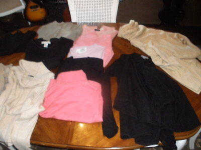 Vintage Lot Of 100% Cashmere Sweaters Mixed Lot Of 12