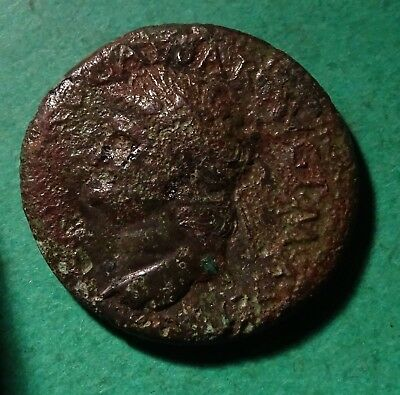 *Tater* Roman Imperial ae Dupondius Coin of Nero  SECURITAS