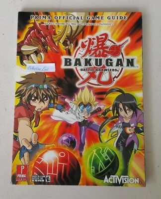 BAKUGAN BATTLE BRAWLERS Official Game Guide covers PS3/PS2, XBOX360, Wii and DS