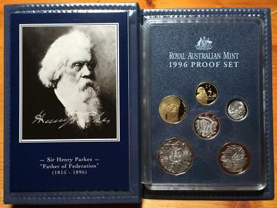 1996 Proof Set..sir Henry Parkes..federation..new $1 Coin Release.